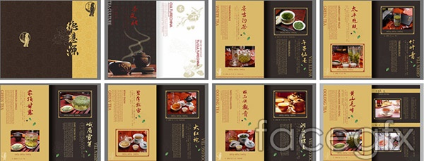 Chinese tea pictures vector