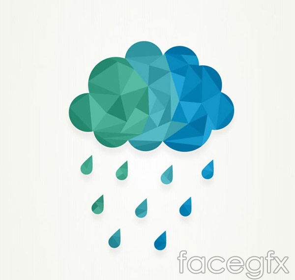 Geometry of the rain clouds vector