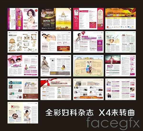 Gynecological journal design vector