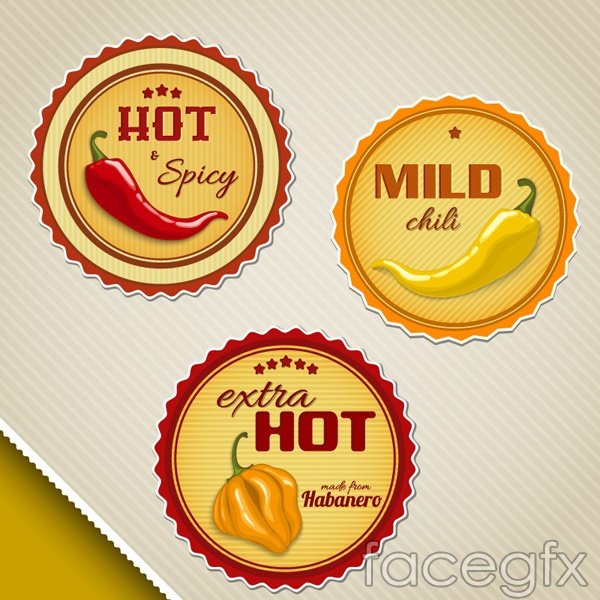 Round hot tags vector