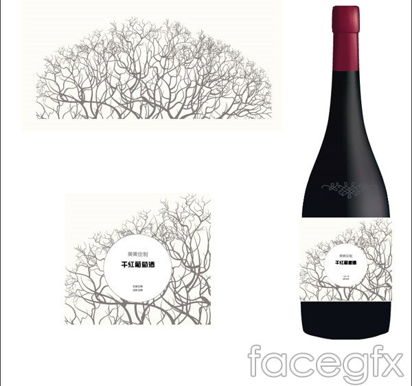Wine packaging design vector