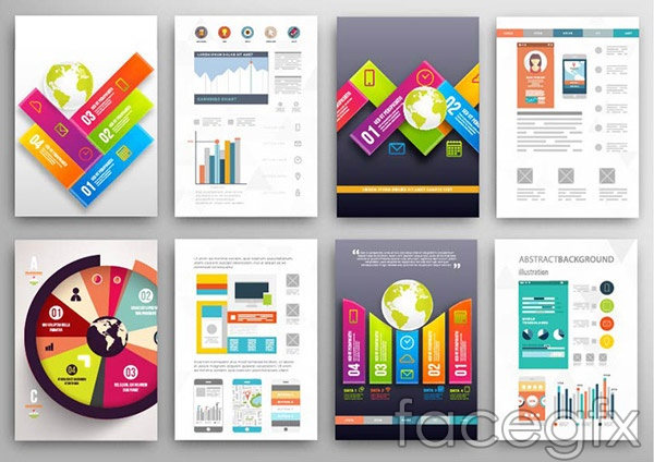 Fashion business chart albums vector