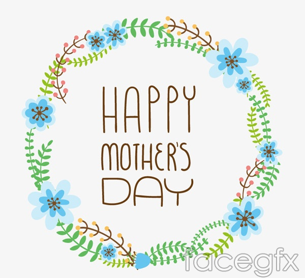 Mother's day wreath vector