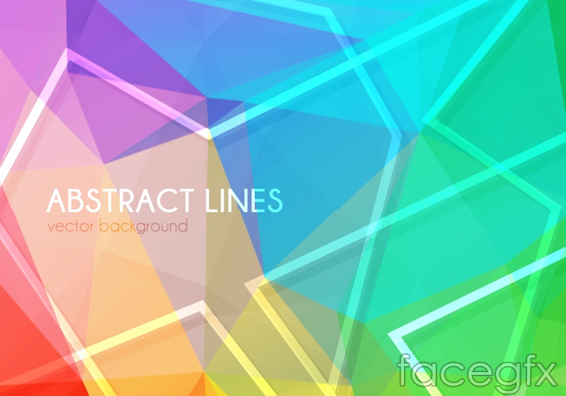 Background of colorful geometric-shaped vector