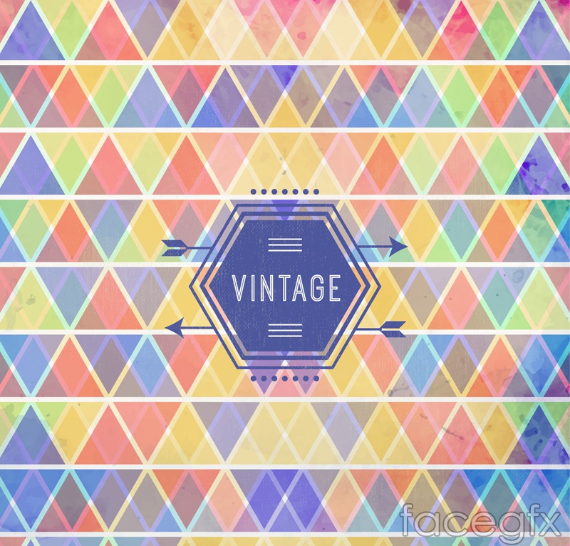 Color color triangular background vector