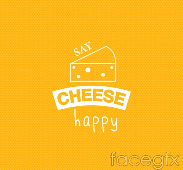 Cheese hand-painted backgrounds vector