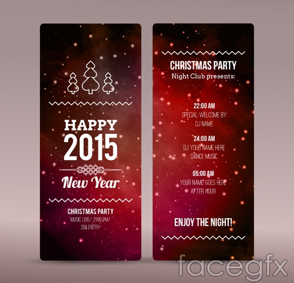 Christmas party fashion vector