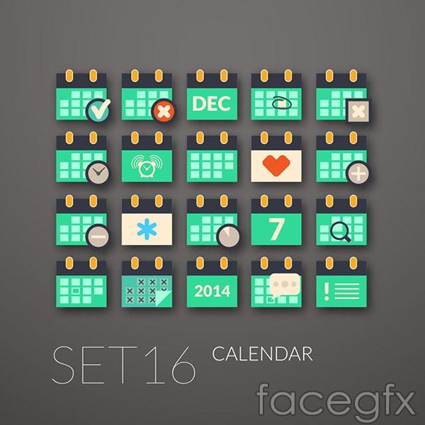 Fashion calendar icon vector