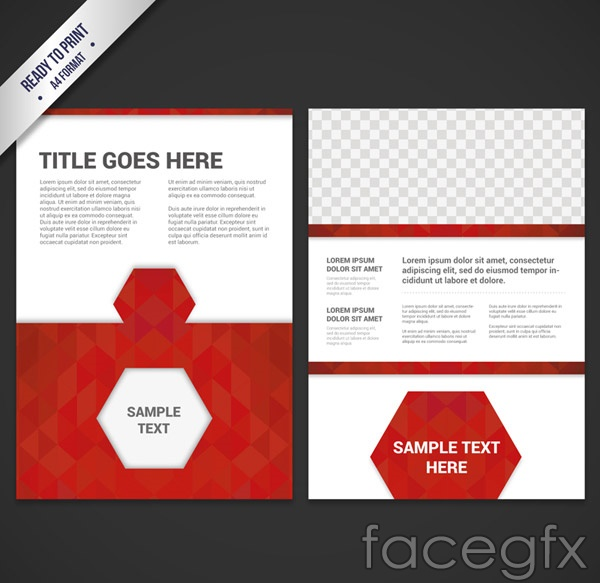 Red business brochure vector
