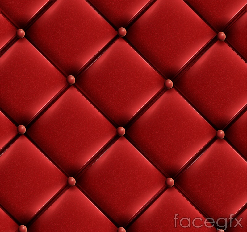 Red leather sofa background vector