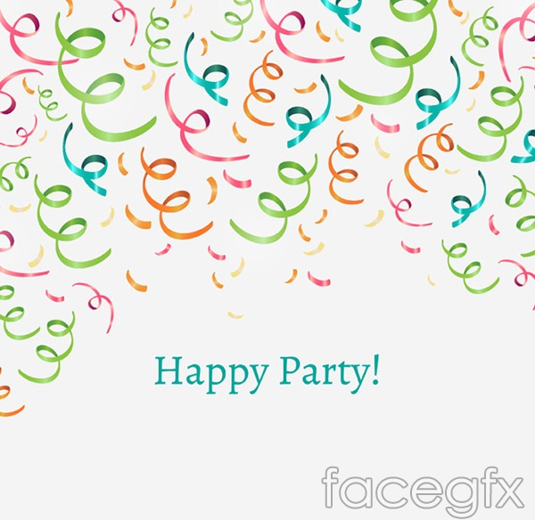 Birthday Ribbon background vector