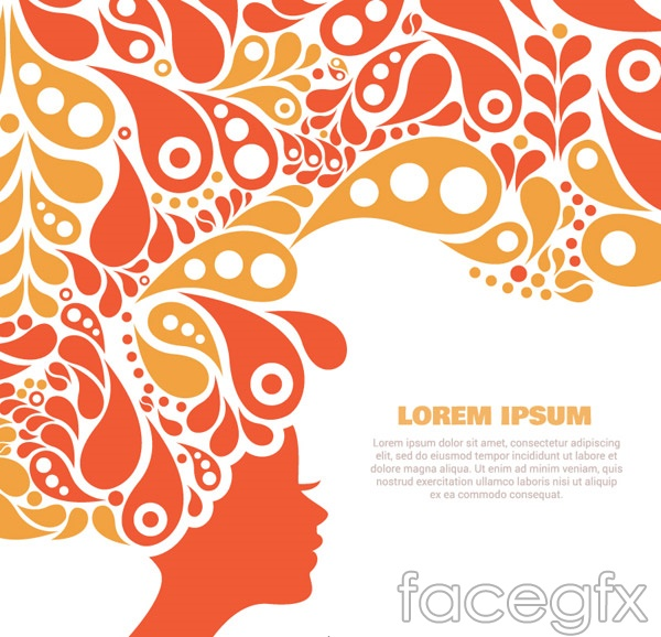 Patterns women's avatar vector