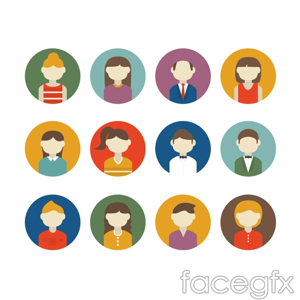 Round character head vector