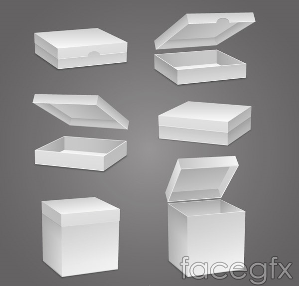 Solid blank tray vector
