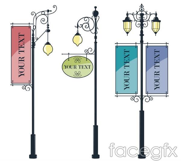 Sandwich Board lamps vector