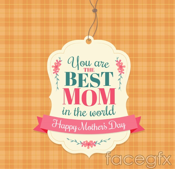 Tag mother's Day greeting cards vector