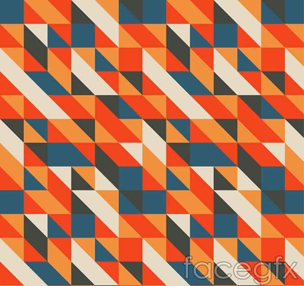 Colour matching triangle background vector