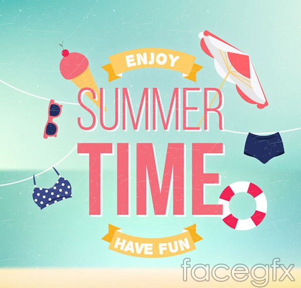 Summer time posters vector