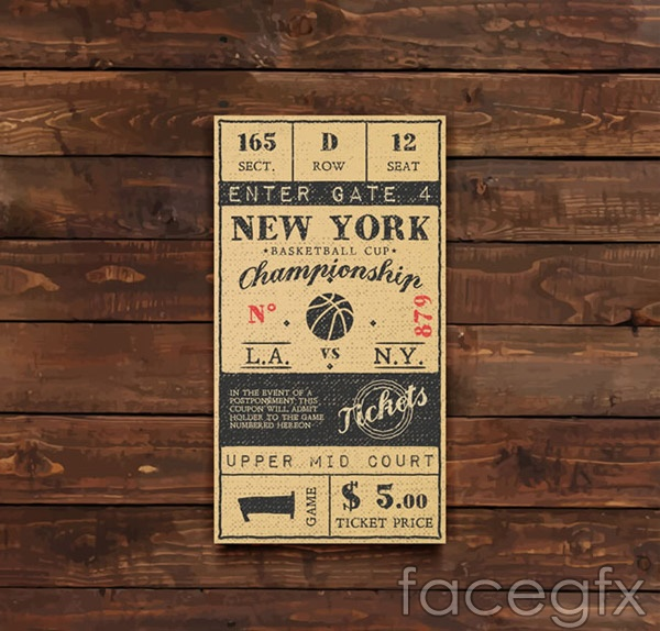 Basketball tickets vector