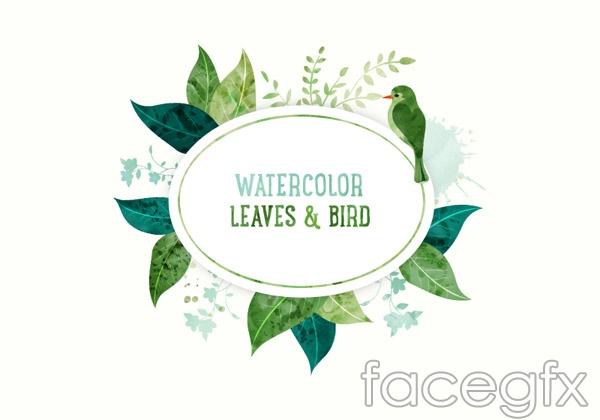 Bird banner vector