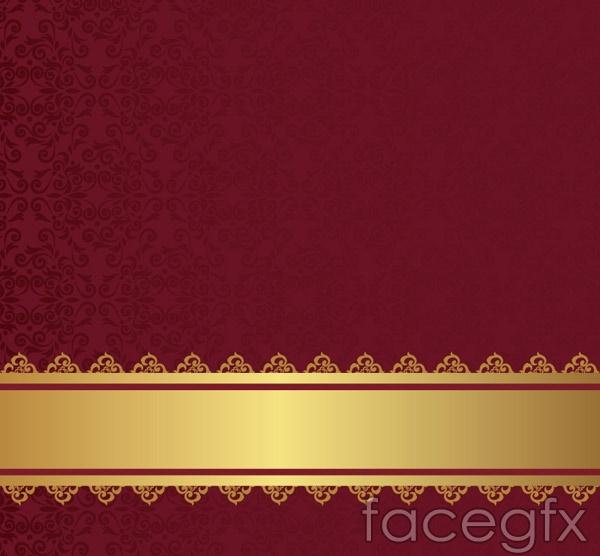 Burgundy patterned background vector