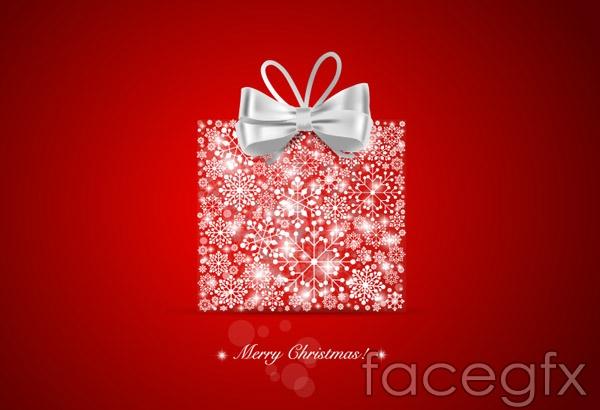 Christmas snowflake gift boxes vector