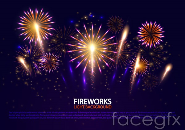 Bright holiday Fireworks vector