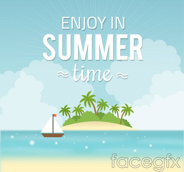 Summer resort island vector