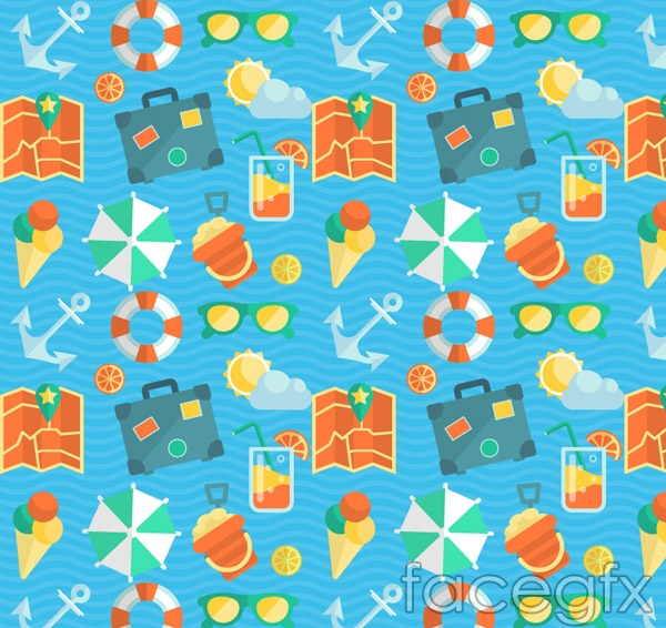 Travel elements background vector