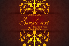Gorgeous gold pattern background design vector graph