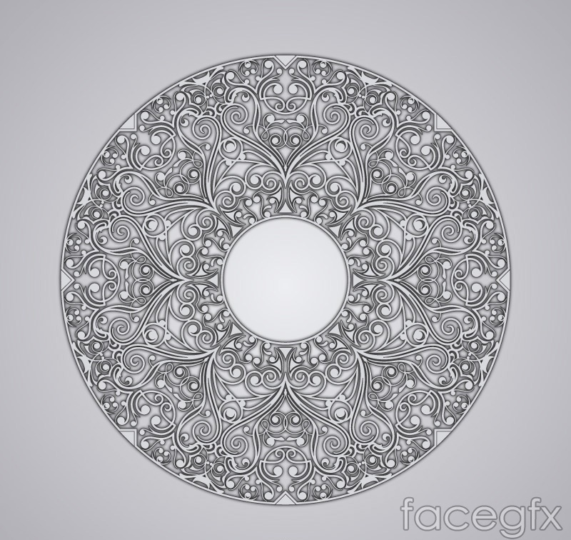 Textured ring pattern vector
