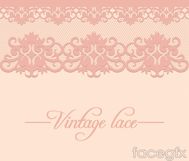 Vintage lace design vector
