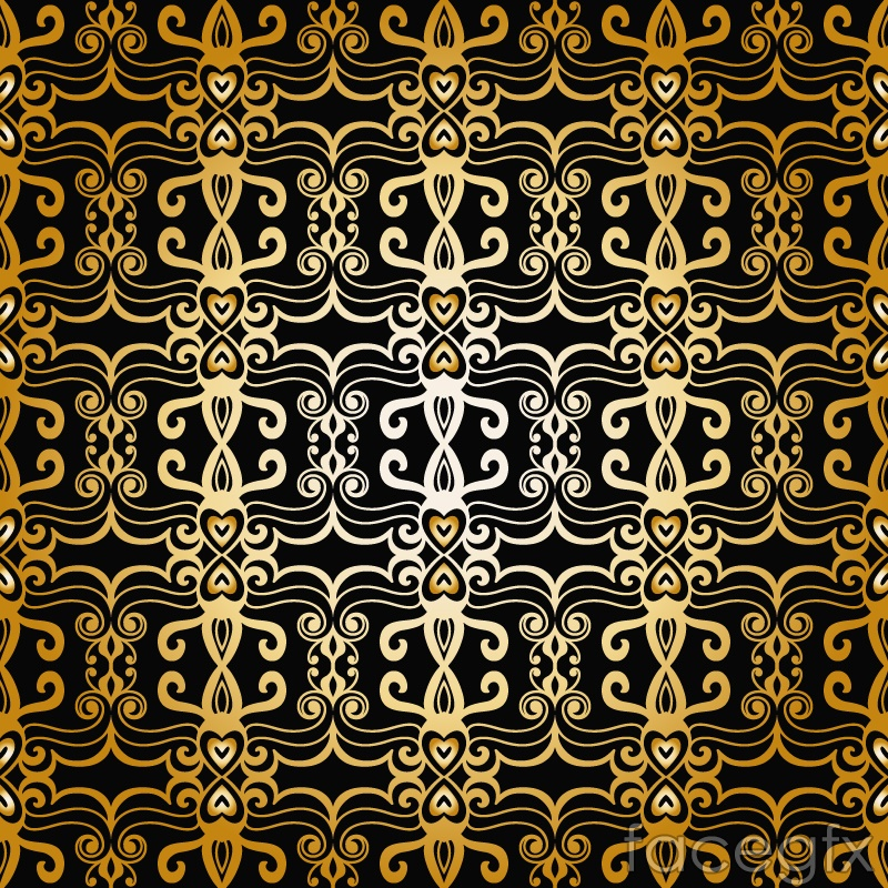 Bright gold pattern vector background