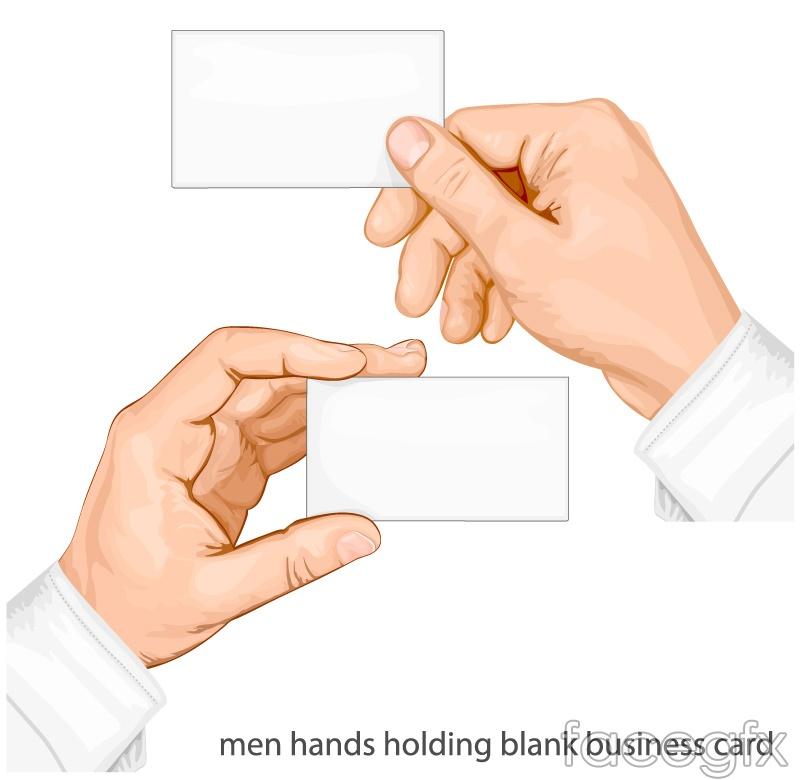 2 blank cards arm vector