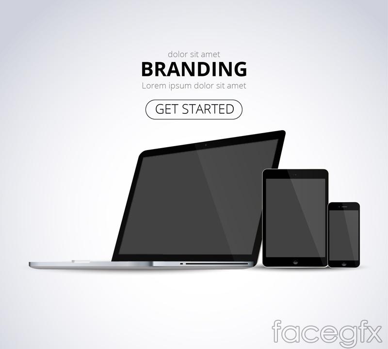 Brand Apple electronics vector