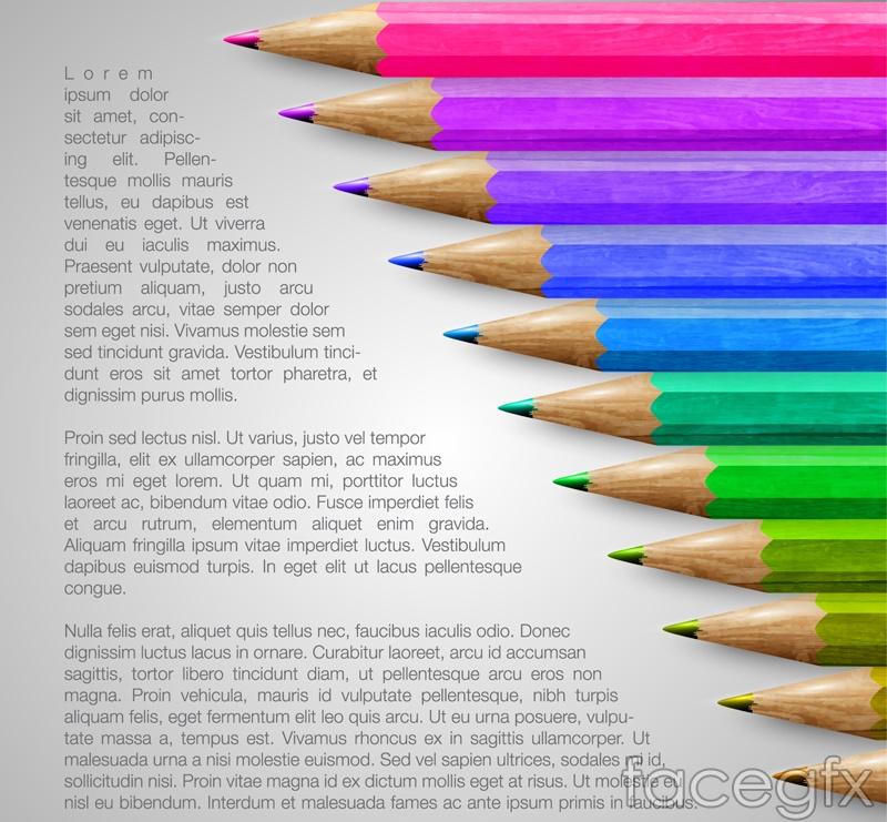 Fun colored pencils vector