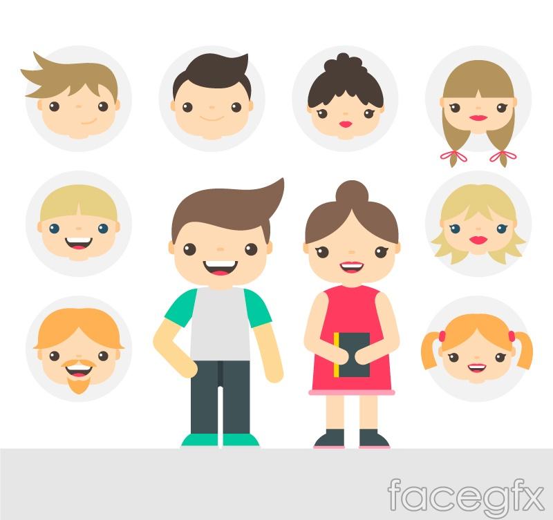 10 cartoon character and avatar vector