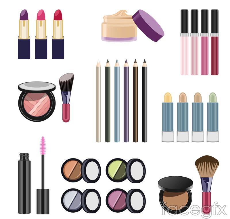9 cosmetics design vector