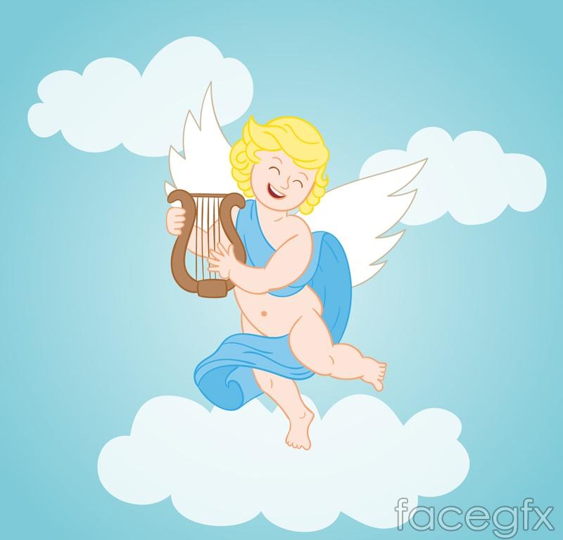 Blonde Angel cloud vector