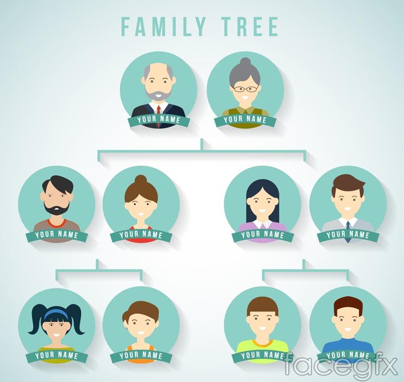 Design creative family tree vector