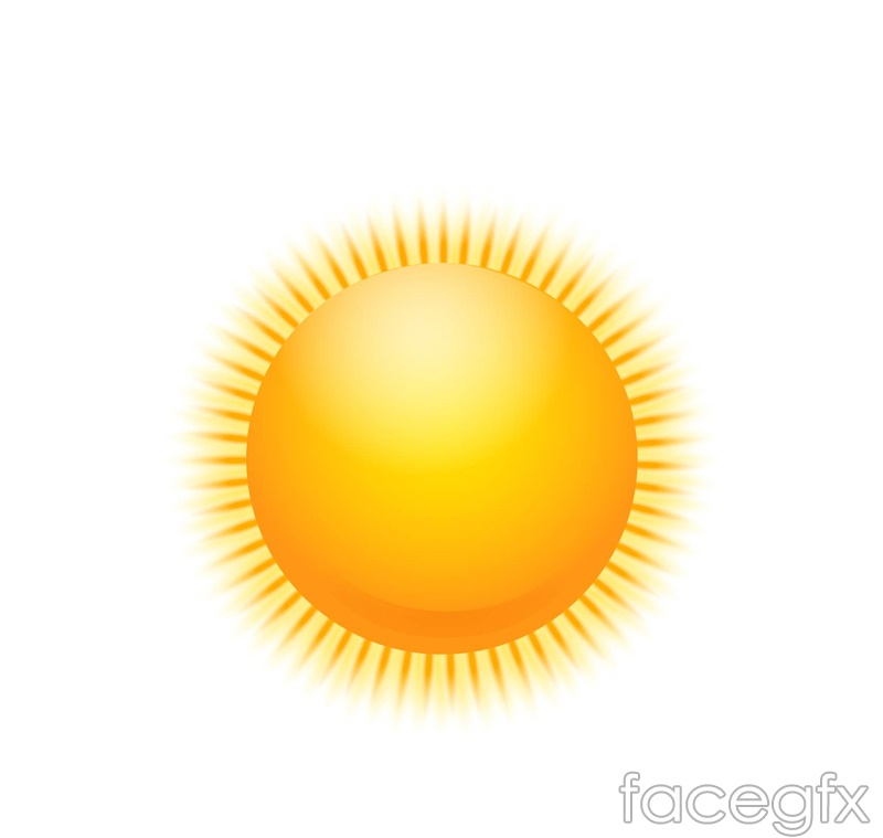 Golden Sun design vector
