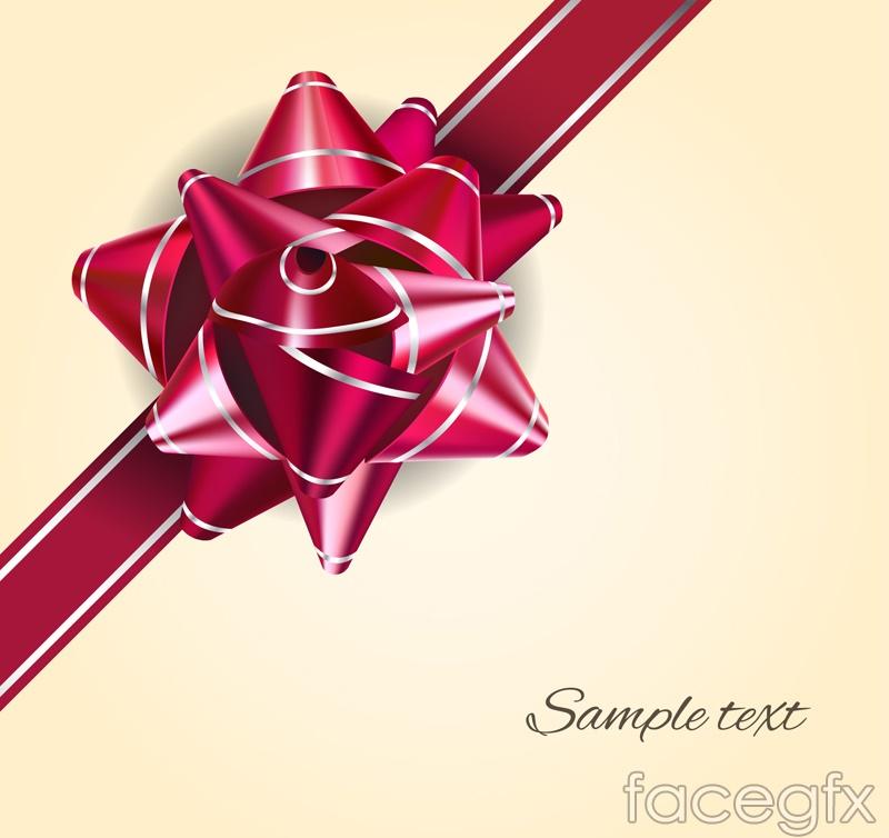 Burgundy Ribbon flower design vector