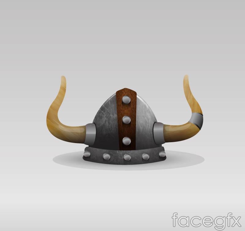Creative Viking helmet vector