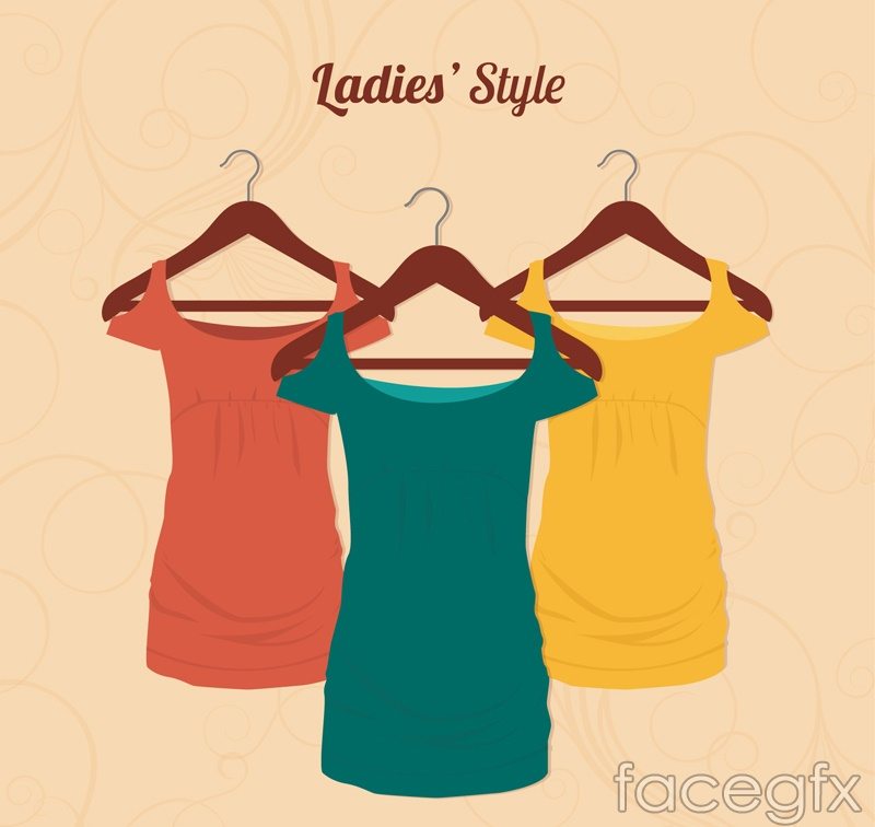 Fashion Lady dress vector