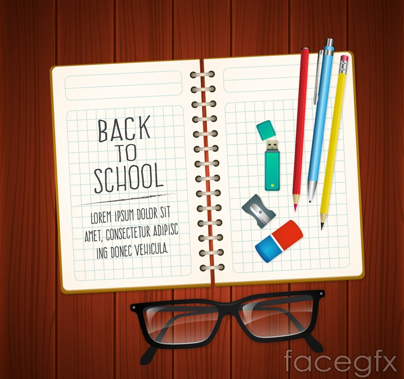 Notepads and stationery vector