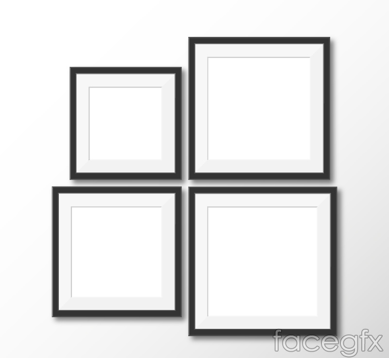 Square photo frames design vectors