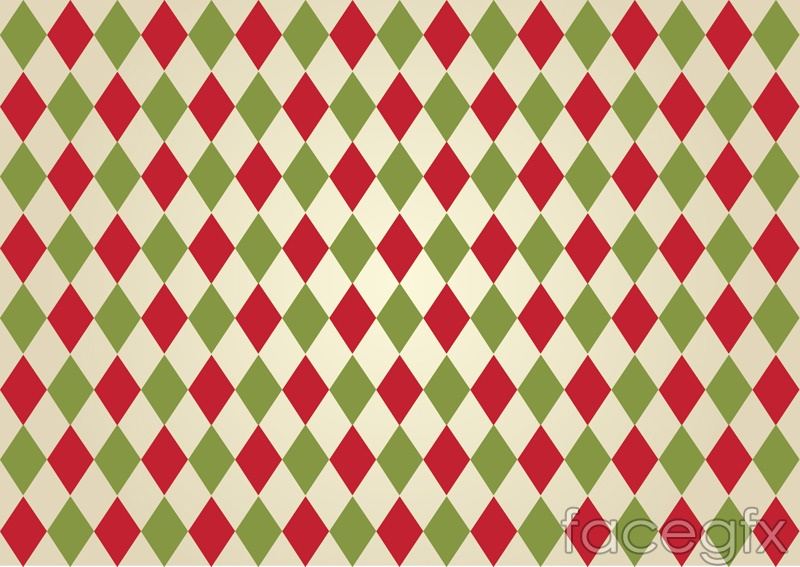 Red and green diamond-shaped grid backgrounds vector