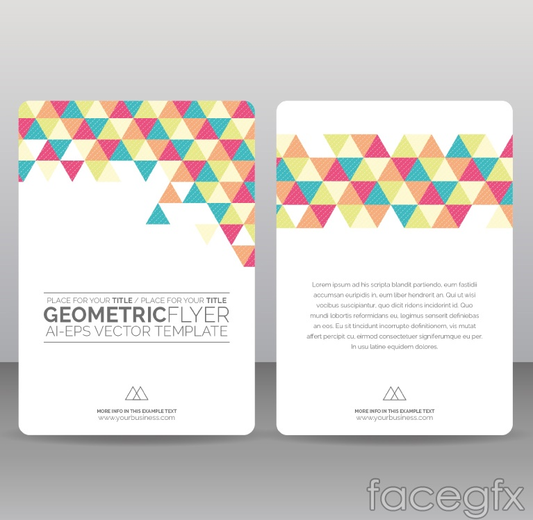 Triangle decorated flyer vector