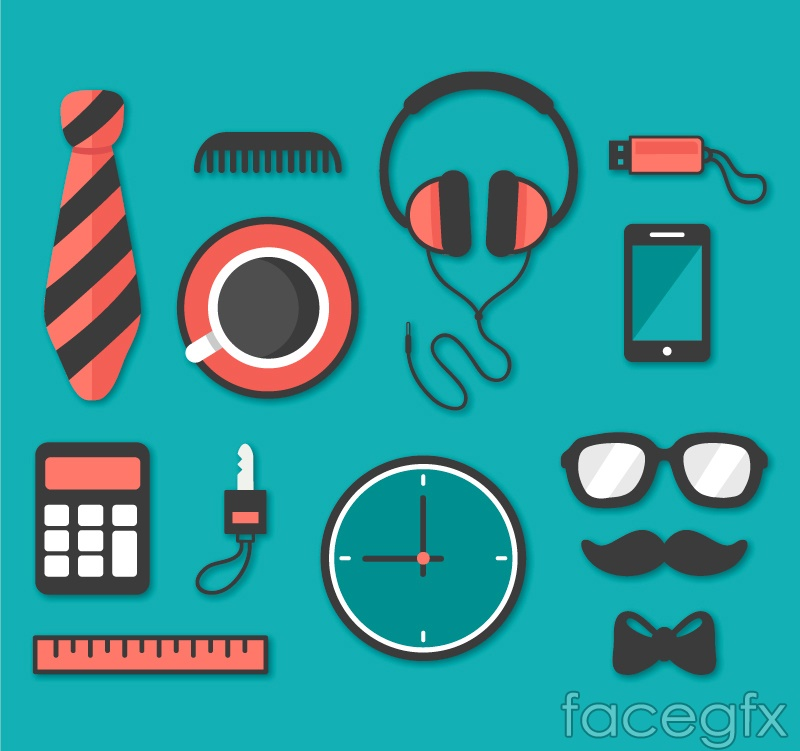 13 daily accoutrements of vector graph