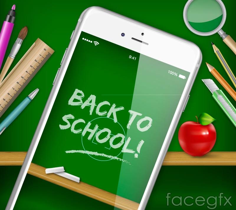 Beautiful posters of school vector